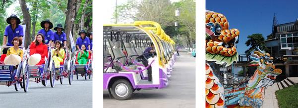 Lựa chọn phương tiện di chuyển tới Huế bằng oto